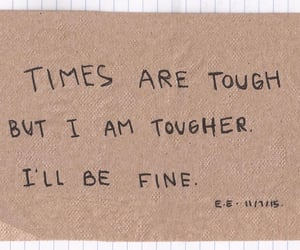 quotes, tough, and words image