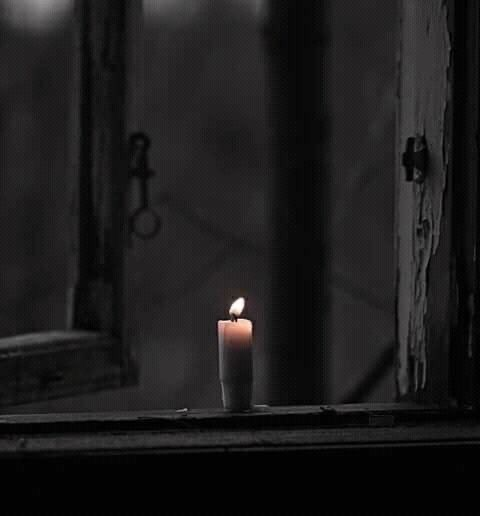 night, candle, and light image