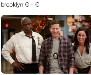 euro, tv series, and brooklyn nine nine image