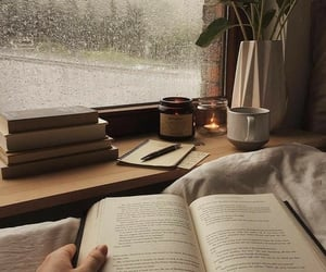 aesthetic, fall, and rain image