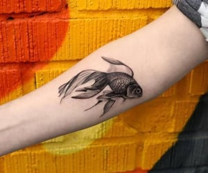 art, artist, and fish image