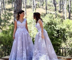 prom gown, elegant prom dress, and silver prom dresses image