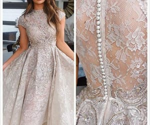 cocktail party dresses, champagne prom dresses, and lace applique prom dress image