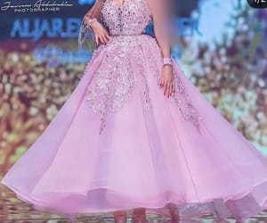 prom gown, pink prom dresses, and sparkly prom dresses image