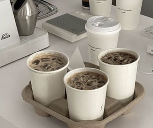 white, coffee, and ice image