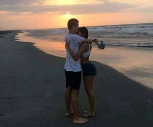amor, Relationship, and sunset image