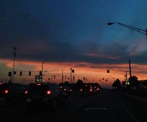 city, dark, and dawn image