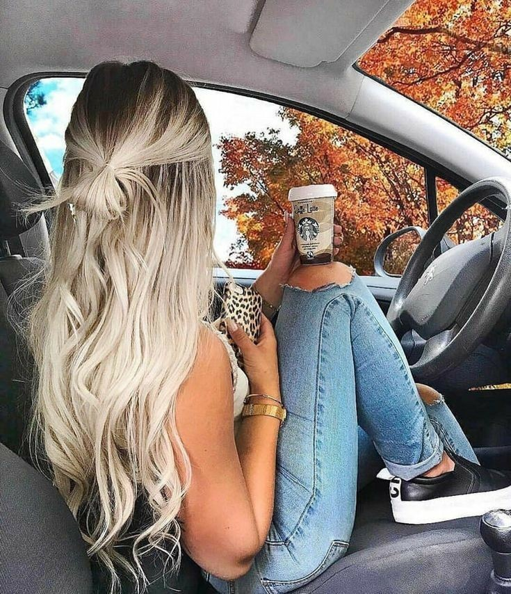 hair, autumn, and girl image