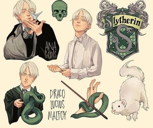character art, draco malfoy, and harry potter image