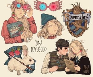 harry potter, luna lovegood, and ravenclaw image
