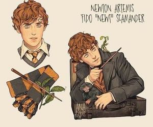 harry potter, fantastic beasts, and character art image
