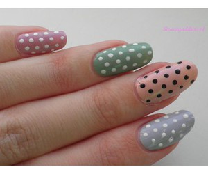 beautiful, polka, and polka dots image