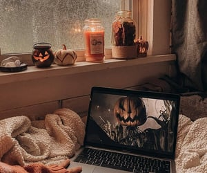 autumn, candles, and Halloween image