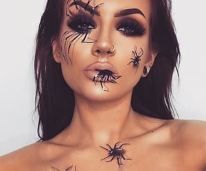 art, cosmetics, and spiders image