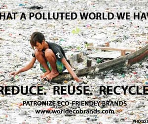pollution, recycle, and reduce image