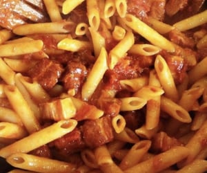food, photo, and penne image
