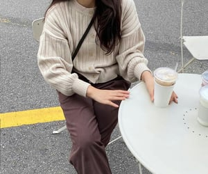 brown, fashion, and korea image