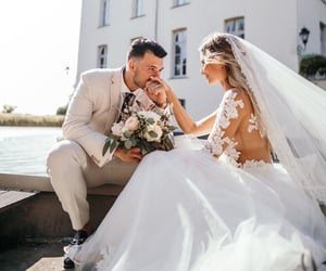 wedding, couple couples, and حب عشق غرام غزل image