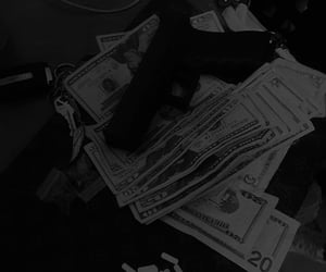 money, gun, and aesthetic image