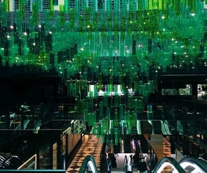 architecture, green, and chandelier image
