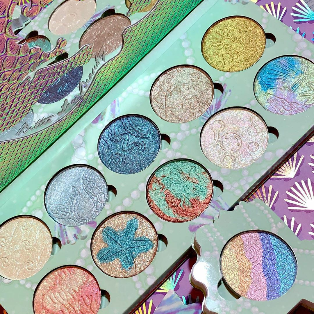 cosmetics, mermaid, and makeup image
