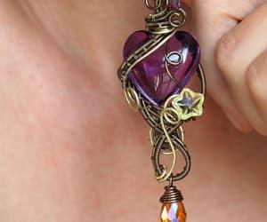etsy, pendant, and purple image