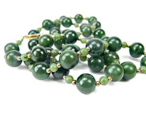 beaded necklace, vintage jewelry, and jade jewelry image
