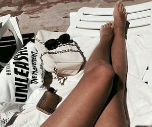 bags, beauty, and sunglasses image