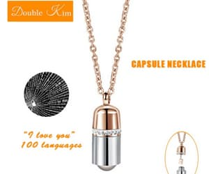 capsule pendant necklace image