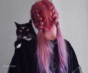 braids, hair, and pink image