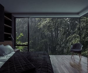 rain, bedroom, and home image