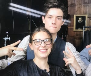 millie bobby brown, louis partridge, and enola holmes image