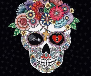 art, day of the dead, and illustration image
