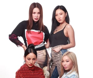 blue, fashion, and girl group image