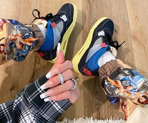 jewelry, nails, and sneakers image