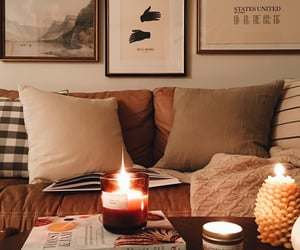 autumn, candle, and home image