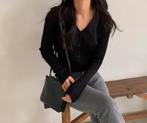 black cardigan, business casual, and cardigan image
