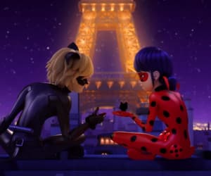 Chat Noir, ladybug, and lovers image
