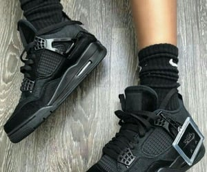black, sneakers, and jordans image