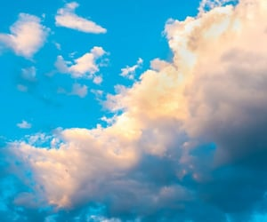 background, clouds, and girl image