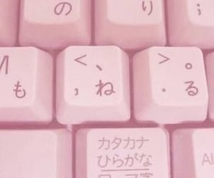 pink, keyboard, and aesthetic image