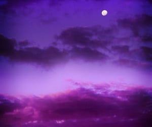 sky, purple, and moon image
