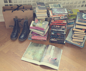 books and dr martens image