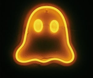 Halloween, ghost, and neon image