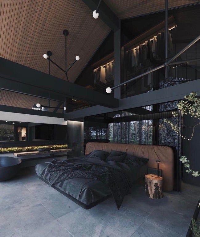 Luxury Modern And Dark Interior Design Inspo