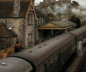 train, vintage, and station image