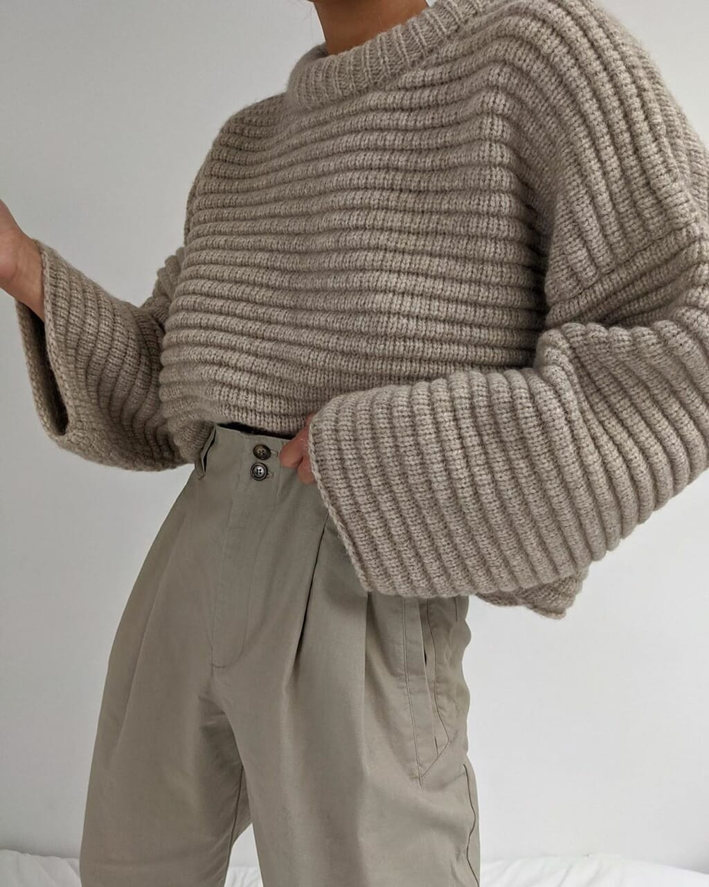 blogger, fashion, and knitwear image