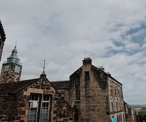 autumn, clouds, and edinburgh image