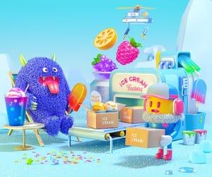 ice cream, soft, and cute image