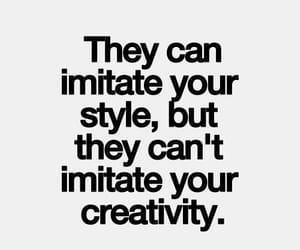 creativity, plagiarism, and quote image
